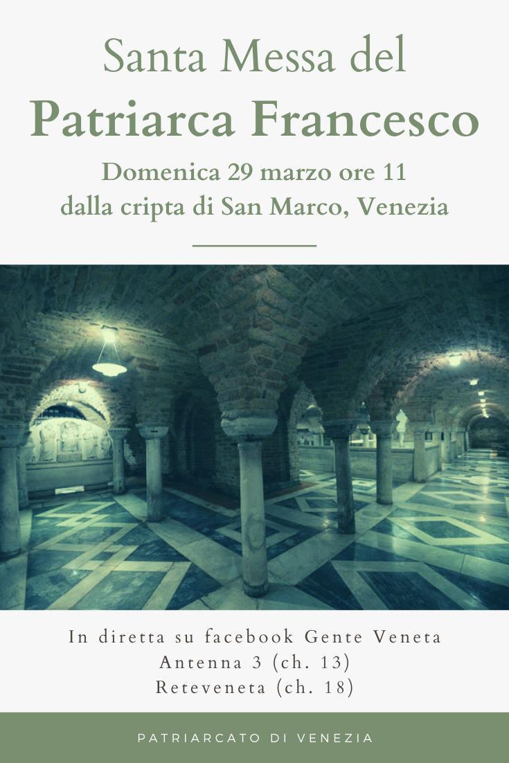 santa messa cripta San Marco Venezia