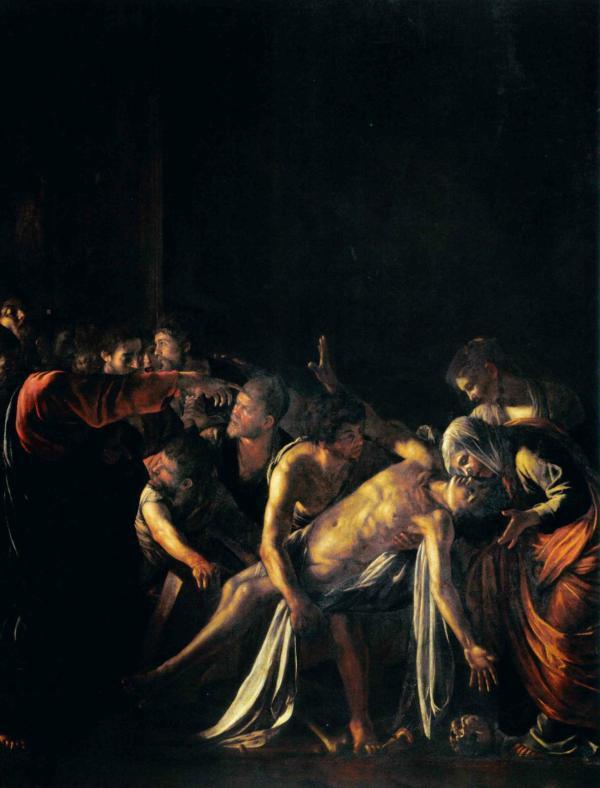 la resurrezione di Lazzaro Caravaggio